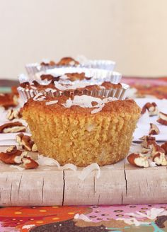 Pecan Coconut Muffins {Gluten-Free}~made w/ almond  and coconut flour these muffins are amazing!