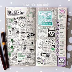Inspiration for keeping a travel journal. Ideas and techniques for art journaling, scrapbooking, or keeping a sketchbook while traveling Journal Notebook, Journal Pages, Journal Diary, Journal Ideas, Filofax, Inspiration Artistique, Organization Bullet Journal, Scrapbook, Pen And Paper