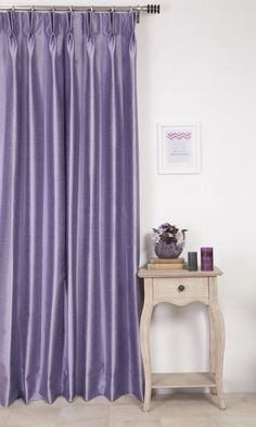 'WESTON LAVENDER LILY' MADE TO MEASURE DRAPES (PURPLE) $46.00   https://www.spiffyspools.com/collections/silk-curtains