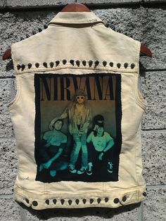 cutout band tee for the back of a jean jacket.