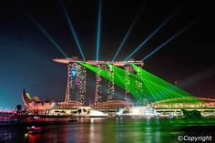 Be wowed by the lights show at Marina Bay