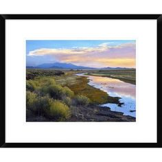 Global Gallery Rio Grande and the Sangre De Cristo Mountains, Colorado by Tim Fitzharris Framed Photographic Print Size: