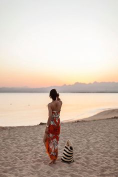 by the Egyptian Red Sea coast, Nazanin Rose Matin scarf worn as dress | Shini of Park & Cube