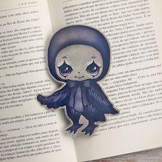 Poe+the+Little+Raven++bookmark+by+ribonitachocolat+on+Etsy