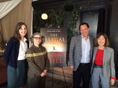 On October 6, (l. to r.) Norton's director of publicity Louise Brockett, editor Amy Cherry, author Lawrence Hill and agent Ellen Levine celebrated the upcoming publication of Hill's new novel, 'The Illegal,' at a luncheon at the NoMad Hotel in New York City.