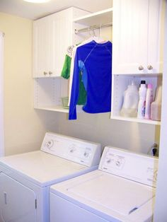 The laundry room is often an overlooked and overworked room in the home. It needs to be functional of course, but what about beautiful? Whether you have a small laundry closet or tiny laundry room, your laundry area can be… Continue Reading → Small Laundry Rooms, Laundry Room Design, Laundry In Bathroom, Laundry Decor, Laundry Area, Basement Laundry, Laundry Closet Organization, Laundry Room Organization, Organization Ideas