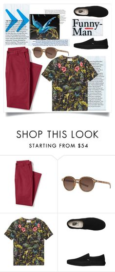 """Untitled #147"" by oanamaria660 ❤ liked on Polyvore featuring Lands' End, Giorgio Armani, Gucci, Vans, men's fashion and menswear"