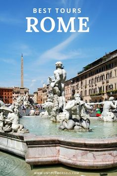 Rome Italy - read our guide to discover the best tours and things to do in Rome. The best way to visit the Coliseum, Vatican, Trevi Fountain and Piazza Navona is with a tour guide. Tips on what to do in Rome and day trips from Rome #rome #italy #traveltip Travel Tips For Europe, Italy Travel Tips, Places To Travel, Travel Destinations, Places To Visit, Eurotrip, Rome Italy Tours, Disneyland, Day Trips From Rome