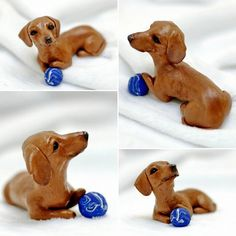 Custom polymer clay sculpture of your dog just for you, or even as a gift for a friend!  All handmade by me using high quality Sculpey clay. I do