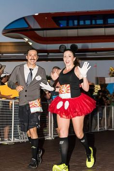 By far... Best running costume ever! Mr. Walt Disney & Mickey!