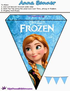 Frozen: Pretty Free Printable Bunting..