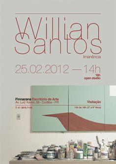 William Santos Paint Exhibition Poster more: www.jaimesilveira.com