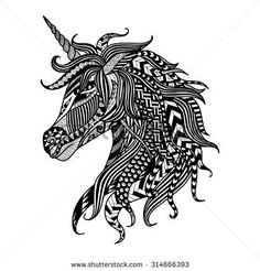 zentangle unicorn - Google Search
