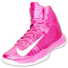 Nike Hyperdunk 2012 Men's Basketball Shoes | FinishLine.com | Pink Fire/Wolf Grey/White