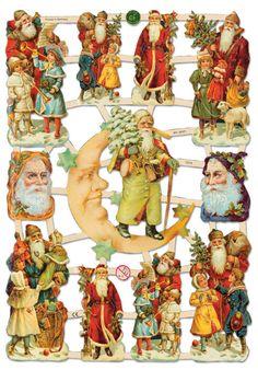 PAPIROLAS COLORIDAS: Navidad victoriana y vintage.