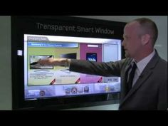 ▶ Samsung's Transparent Smart Window at CES 2012 Amazing Display! (2:00) #screen