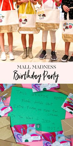 58 Trendy Birthday Party Ideas For Girls Tween Mall Scavenger Hunt Mall Birthday Party, 12th Birthday Party Ideas, Birthday Fun, Ideas Party, 11th Birthday, Birthday Decorations, Teen Birthday Parties, Hunting Birthday, Kid Birthdays