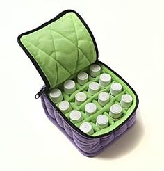 16-Bottle Essential Oil Carrying Cases hold 5ml, 10ml and 15ml bottle - Lavender with Aqua Green interior TheraPure Health Essentials,http://www.amazon.com/dp/B002NI0TDA/ref=cm_sw_r_pi_dp_NEP6sb14F6NZPC1Y