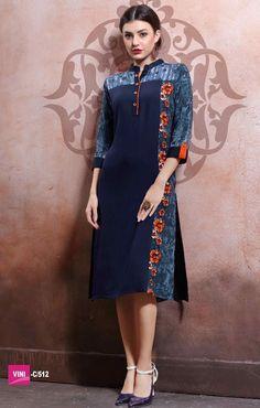 Grace Plus Rayon Cotton Print+Lenon Kurtis (12 pc catalog)