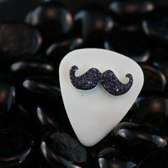 Mustache guitar pick!