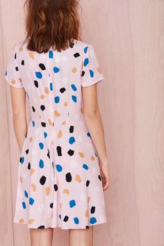 Dusen Dusen on the rocks silk dress + print