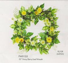 daisies, greens