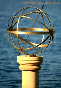 Personalise an Armillary Sundial for your loved one at www.bordersundials.co.uk