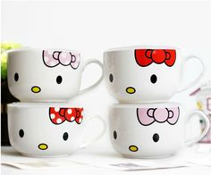 Hello Kitty mugs Hello Kitty Mug, Hello Kitty Kitchen, Hello Kitty Items, Melted Crayon Crafts, Crayon Art, Diy For Kids, Crafts For Kids, Hello Kitty Merchandise, Sharpie Crafts