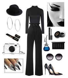 """BLACK MAMBA  ASSASSIN"" by tarvette on Polyvore featuring Rodarte, Topshop, Kate Spade, Michael Kors, NYX, Eugenia Kim, Christian Louboutin, GlassesUSA, Van Cleef & Arpels and NARS Cosmetics"