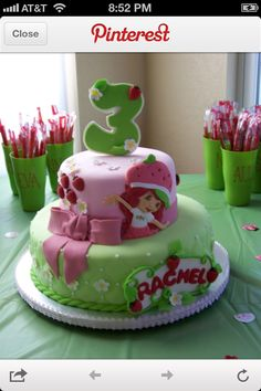 replace strawberry shortcake with tinkerbell Brooks Birthday?