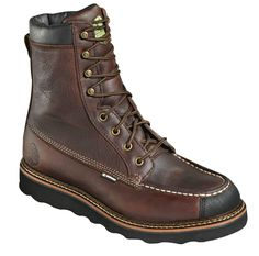 Wood N Stream Mens Flyway 8in Steel Toe Red Oak Leather EH WP Work Boots