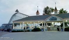 Blue Streak at Cedar Point. This was THE coaster when I was a teenager. Geauga Lake Amusement Park, Best Amusement Parks, Sandusky Ohio, Cedar Point, Roller Coasters, Blue Streaks, The Good Old Days, Cleveland, Nostalgia