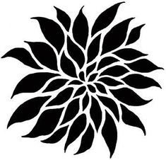 Flower Stencil Dahlia Grande SM - Floral Stencils for Painting Walls - Reusable wall stencils instead of wall decals - Easy DIY Wall Decor Tree Stencil, Leaf Stencil, Damask Stencil, Stencil Patterns, Stencil Art, Stencil Designs, Flower Stencils, Stenciling, Sgraffito