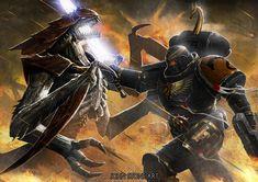 Tyranid Warrior, Sisters Of Silence, Warhammer 40k Space Wolves, John Stones, The Horus Heresy, Grey Knights, Warhammer Fantasy, Space Marine, Stone Art