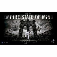 Mariano Rivera New York Yankees Autographed Empire State of Mind 14'' x 24'' Photograph