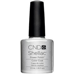 Creative Nail Shellac Silver Chrome, 0.25 Fluid Ounce. Provides a long-lasting color layer to nails. Provides a revolutionary new color service for nails. Provides 14-day wear.
