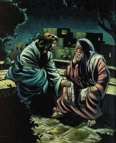 "John - ""The same came to Jesus by night, and said unto him, Rabbi, we know that thou art a teacher come from God: for no man can do these miracles that thou doest, except God be with him. Comic Pictures, Rabbi, John 3, Joker, Bible, Teacher, God, Comics, Night"