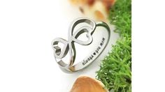 """Infinity Ring for Mom - Double Hearts Mother Ring Engraved """"Always Love you Mom"""", Ring Sizes 6 to 9 Mother Daughter Jewelry, Mother Jewelry, Sister Jewelry, Mother Rings, Infinity Knot Ring, Infinity Heart, Best Gifts For Mom, Baby Bracelet, Love You Mom"""