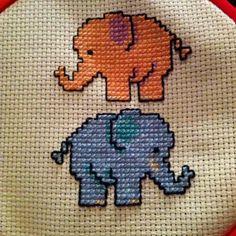 My elephant cross stitch :)