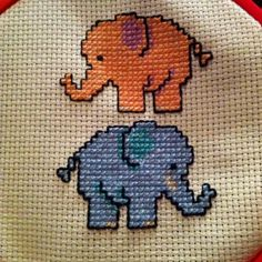 My elephant cross stitch :)