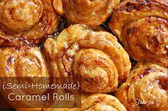 {Semi Homemade} Caramel Rolls • Table for Seven