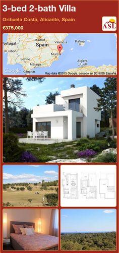 3-bed 2-bath Villa in Orihuela Costa, Alicante, Spain ►€375,000 #PropertyForSaleInSpain
