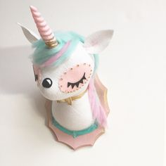 Unicorn Faux Taxidermy by MisfitMenagerie on Etsy https://www.etsy.com/listing/234153931/unicorn-faux-taxidermy