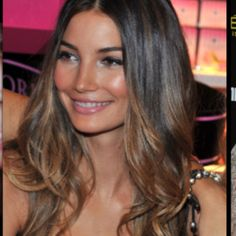 ombre color on dark brown hair