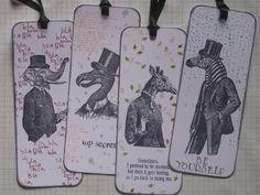 Set of 4 bookmarks - stamps from Katzelkraft