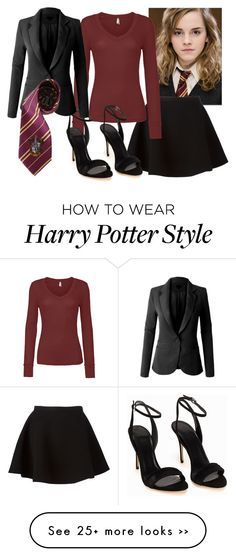"""""""Hermione"""" by hyperducky on Polyvore featuring Neil Barrett, LE3NO and Elope"""