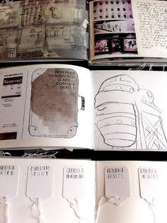 Art Sketchbooks with drawings & inspiration; artist journal; art & design portfolio // Becca Kelly