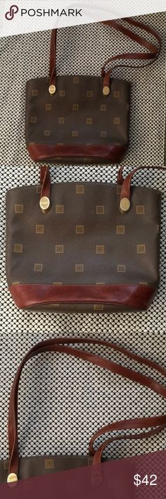 Texier vintage coated handbag Made in France. This gently used handbag is sure to get some compliments. Leather straps with brass hardware. texier Bags Shoulder Bags