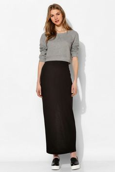 Silence + Noise Back-Slit Fitted Maxi Skirt #urbanoutfitters