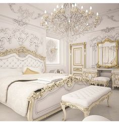 Royal bedroom - Gold Bedroom Ideas Glamorous Ideas You'll Adore Royal Bedroom, Gold Bedroom, Bedroom Sets, Modern Bedroom, Bedroom Decor, Master Bedroom, Contemporary Bedroom, Bedroom Classic, Master Suite